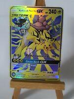 Raikou and Pikachu Proxy Custom Pokemon Card in Holo Lavados