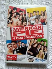 AMERICAN PIE- 4 FILM COLLECTION – DVD, 4-DISC SET, R-4, LIKE NEW, FREE SHIPPING