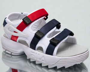 Fila Disruptor Sandal Women's New White Navy Red Lifestyle Sandals 1010611-01M