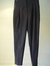 River Island ~ small check smart town & country style tapered trousers ~ size 8R