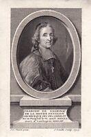 Portrait XVIIIe Fénelon François de Salignac de La Mothe Evêque Théologien