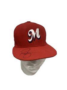 "Memphis Redbirds Signed Mascot ""Rocky"" Fitted Hat New Era 6 3/4 Minor League MLB"