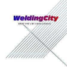 """WeldingCity 1-Lb Er347 Stainless Steel 347 Tig Welding Filler Rod 1/16x36"""""""