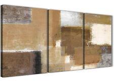 3 PEZZI Beige Crema Marrone Pittura Cucina Arredamento in Tela-ASTRATTO 3387 - 126 cm