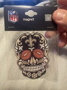 New Orleans Saints Sugar Skull Magnet