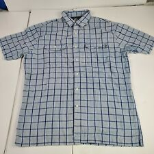 Croft & Barrow Quick Dry Size Large Blue Vented Button Shirt Camping Hiking