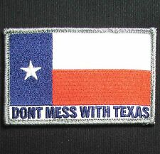 DONT MESS WITH TEXAS STATE FLAG ARMY FULL COLOR HOOK & LOOP MORALE PATCH