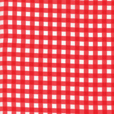 Vintage Holiday Cotton Red Plaid Gingham Bonnie and Camille Moda Quilting Fabric