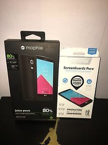 Mophie Juice Pack for LG G4 - 3,450 mAh Battery Case-black + Free Bodyguardz