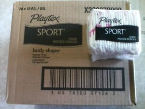 Playtex Sport Liners Pads Regular To Go 360 Count Box Body Shape Unscented