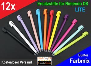 12x DS Stifte💛Nintendo DS Lite DSi Pen Stylus Eingabestift❤️rot💚grün💙schwarz