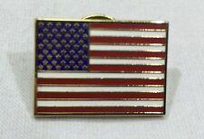 Rectangle American Flag Patriotic Cloisonne Graduation Military USA Lapel Pin
