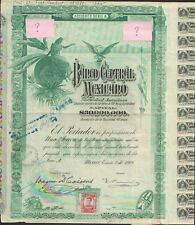 "BANCO CENTRAL MEXICANO 1908 => ""BLUEBERRY"""