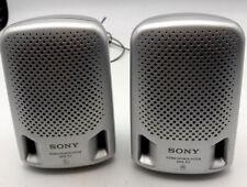 SONY SRS-P3 Mini Speaker System Retro Portable Silver Tested Working Walkman Vgc