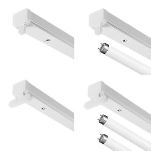 2ft 4ft 5ft 6ft Single or Twin T8 High Frequency Fluorescent Batten Fitting IP20