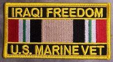 Embroidered Patch Gulf War Iraqi Freedom Veteran Marine Corps NEW