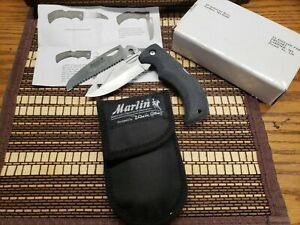 Blackie Collins knife Marlin Firearms Changer Rare Saw Blade New Mint gut hook