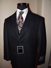 Gianni Uomo Italian Design Super 140's Modern Blazer 40R Navy-Shirt/Tie Included
