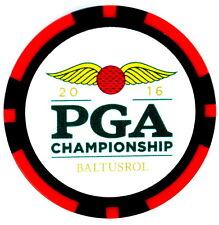 2016 PGA CHAMPIONSHIP (Baltusrol) - Red - POKER CHIP Golf Ball Marker