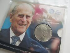 2017 UK £5 Brilliant Uncirculated coin. Prince Philip.Mint/sealed