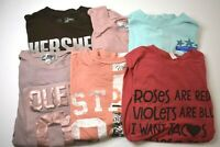 Women's Small Mixed Brands & Styles Short Sleeve Graphic T-Shirts Lot of 6