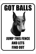 #15 Doberman Got Balls Jump This Fence And Lets Find Out Pet Dog Gate Fence Sign
