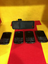 4 BLACKBERRY VERIZON PHONES 2-9630 & 2-9650 AND 2 PIECE CARRIER