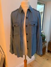Zara Lightweight Chambray Blouse Shirt Large (would Suit 12-14)