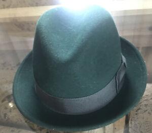 NEW Bailey of Hollywood Lite Felt TINO Fedora Hat Dark Green Packable Sz L   USA