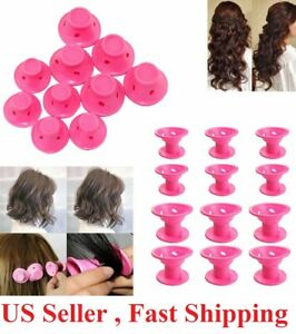 20 PCS Silicone No Heat Hair DIY Curlers Magic Soft Rollers Hair Care Tool