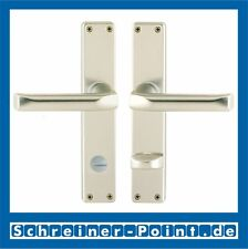 Hoppe London Aluminium F2 Neusilber Langschild 113/202SP Bad WC - Garnitur SK/OL