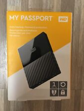 Western Digital My Passport  1TB USB 3.0 Portable External Hard Drive Black