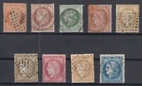 O3950/ FRANCE – 1853 / 1875 USED CLASSIC LOT