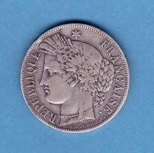 (RF.60) MONNAIE DE 5 FRANCS CÉRÈS 1850 BB (STRASBOURG) TTB-