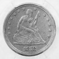 1872-CC Seated Liberty 25C PCGS Certified XF Details Cleaning