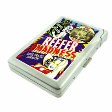 Reefer Madness D5 Cigarette Case with Built in Lighter Metal Wallet