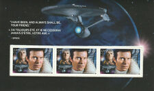 2017 STAR TREK - CANADA POST PRESTIGE BOOKLET SHEET -  3 STAMPS ADMIRAL KIRK