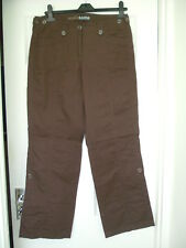 BROWN CARGO COTTON CAUSAL TROUSERS CONVERT TO SHORTS BNWOT 10