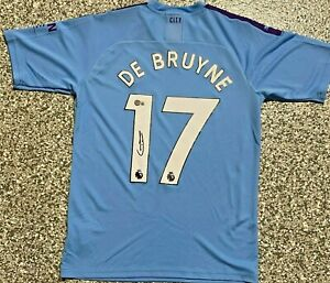 2019/20 Kevin De Bruyne Signed Manchester City Jersey Beckett BAS Witnessed