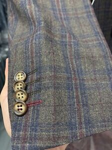 New 42R Men's SLIM Brown Suit 100% Wool Super 150 Made in Italy Retail $1295