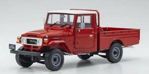 1:18 Toyota Land Cruiser 40 Series Pickup -- Red -- Kyosho