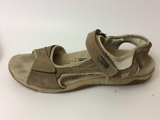 PROPET Womens 9 M Brown Beige Suede Leather Ankle Strap Sport Sandals W0605 Shoe