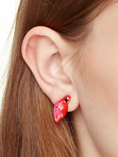 Kate Spade Out Of The Office Parrot Studs Earrings Pink paradise bird