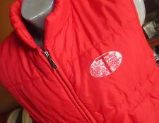 Large True Vtg 80's Teter Oil Field Co Red Puffer Steel Zip Ski Vest Jacket