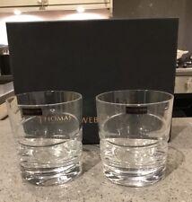 NEW Thomas Webb Crystal Tumblers New and Boxed