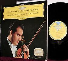 DGG LP 138-930: BRAHMS - Violin Concerto - Christian FERRAS, 1964 TULIPS GERMANY