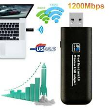 1200Mbps USB3.0 Dual Band WiFi Dongle 5GHz/2.4G Wireless Network Adapters For PC