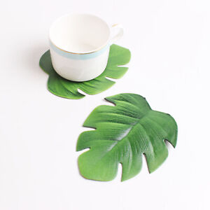 Set of 4 Drink Coasters Cup Pads Tea Coffee Mug Mats Dining Table Kitchen Decor