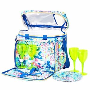 Lilly Pulitzer Picnic Cooler w/plates & cups