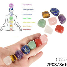 7x Chakra Stones Palm Natural Stone Reiki Healing Crystals Gemstones Decor Hot